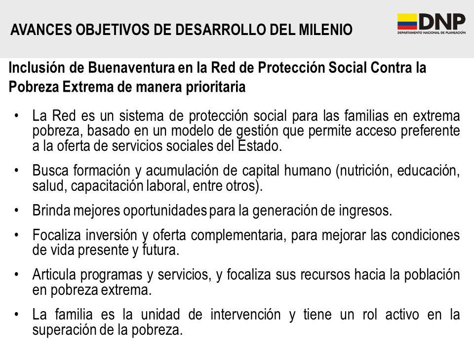 Inclusión de Buenaventura en la Red de Protección Social Contra la Pobreza Extrema de manera prioritaria La Red es un sistema de protección social par