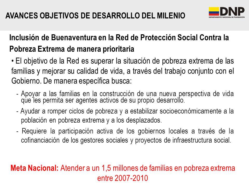 El objetivo de la Red es superar la situación de pobreza extrema de las familias y mejorar su calidad de vida, a través del trabajo conjunto con el Go