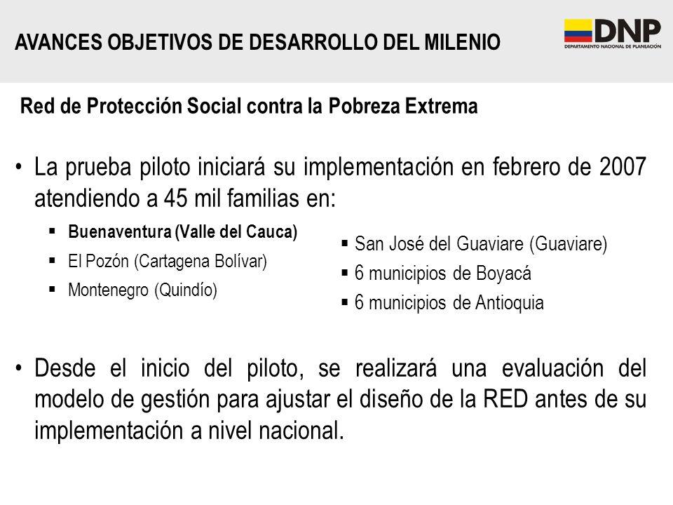 Red de Protección Social contra la Pobreza Extrema La prueba piloto iniciará su implementación en febrero de 2007 atendiendo a 45 mil familias en: Bue