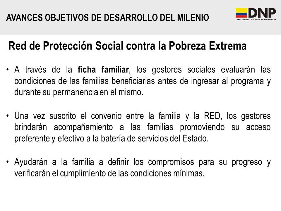 Red de Protección Social contra la Pobreza Extrema A través de la ficha familiar, los gestores sociales evaluarán las condiciones de las familias bene