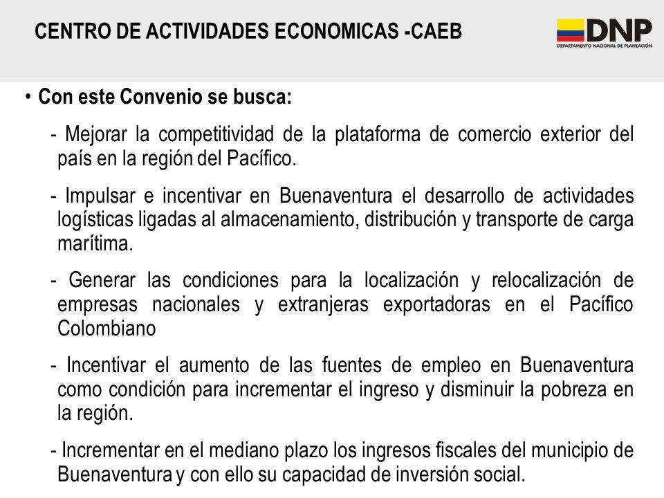 Con este Convenio se busca: - Mejorar la competitividad de la plataforma de comercio exterior del país en la región del Pacífico. - Impulsar e incenti
