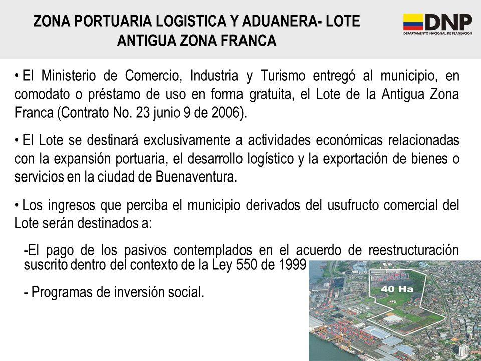 El Ministerio de Comercio, Industria y Turismo entregó al municipio, en comodato o préstamo de uso en forma gratuita, el Lote de la Antigua Zona Franc