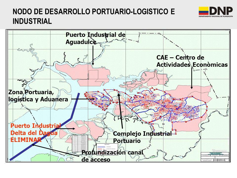 Puerto Industrial de Aguadulce CAE – Centro de Actividades Econòmicas Complejo Industrial Portuario Profundización canal de acceso Zona Portuaria, log