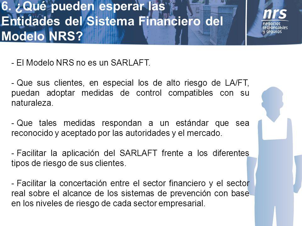 - El Modelo NRS no es un SARLAFT.