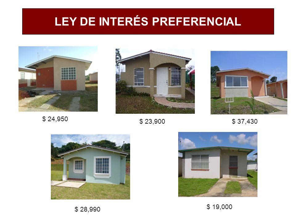 LEY DE INTERÉS PREFERENCIAL $ 23,900$ 37,430 $ 24,950 $ 28,990 $ 19,000