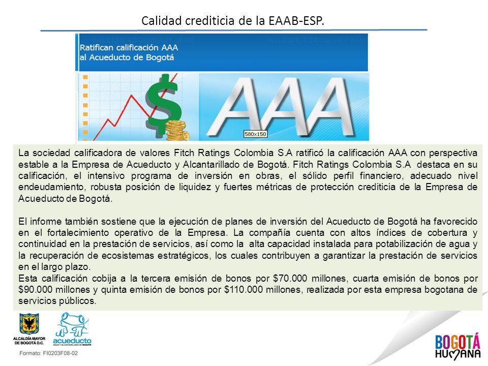 Calidad crediticia de la EAAB-ESP.