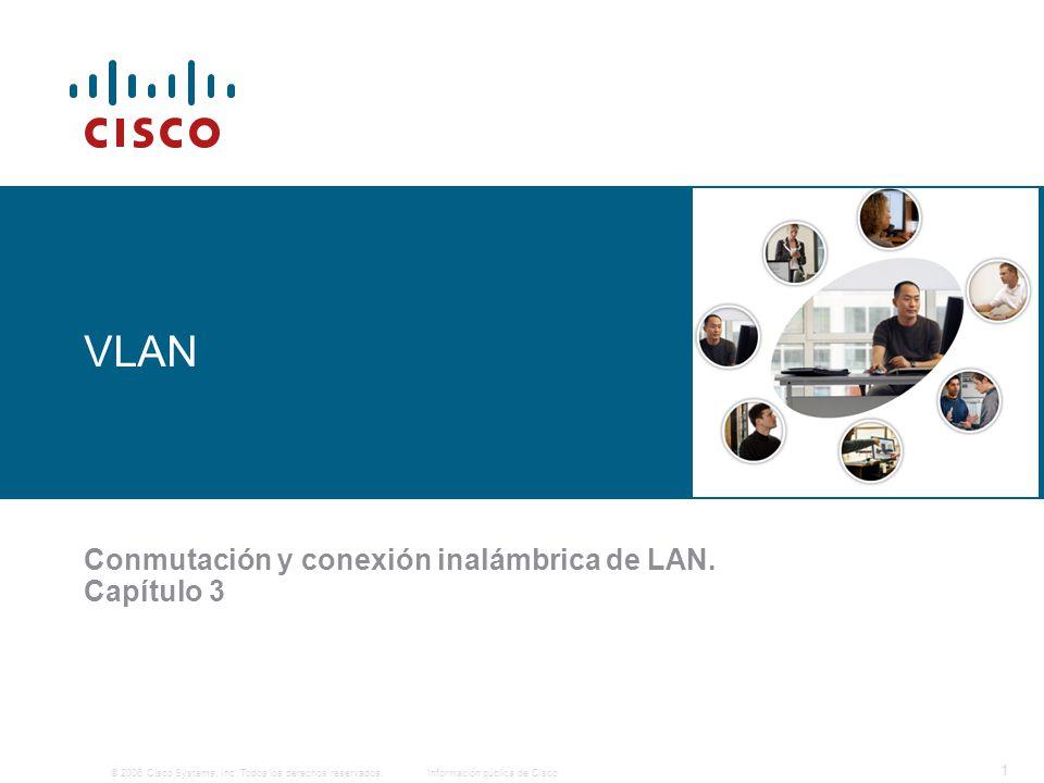 © 2006 Cisco Systems, Inc. Todos los derechos reservados.Información pública de Cisco 1 VLAN Conmutación y conexión inalámbrica de LAN. Capítulo 3