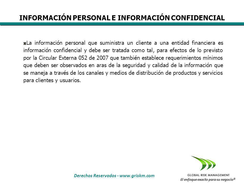 Derechos Reservados - www.griskm.com El enfoque exacto para su negocio © FACTORES DE ÉXITO PARA PREVENIR EL MAL MANEJO DE INFORMACIÓN CONFIDENCIAL FCE 1.