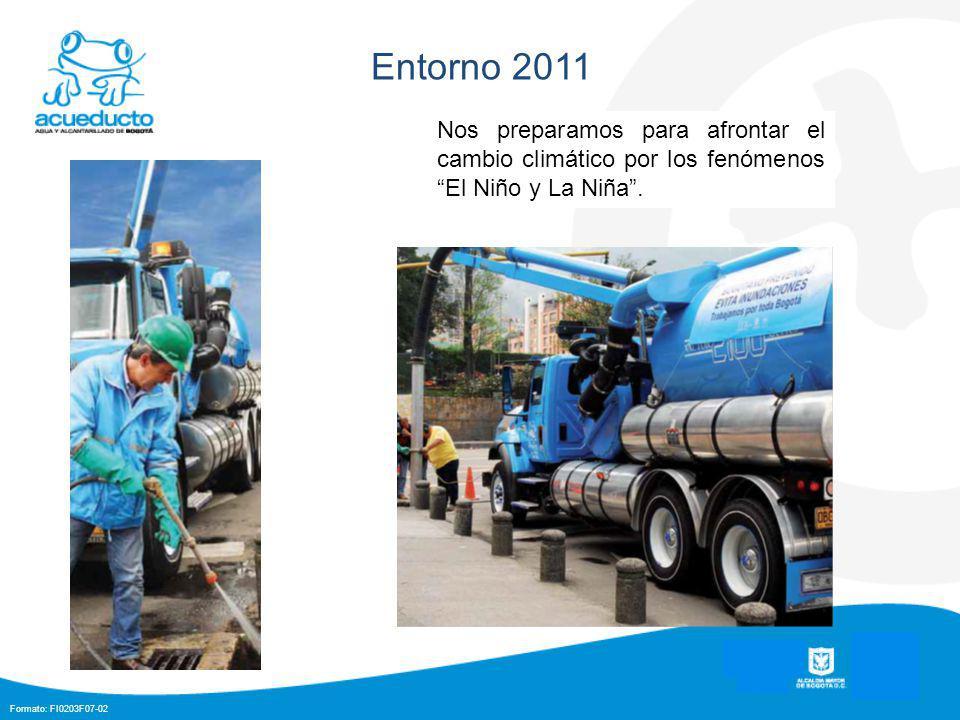 Formato: FI0203F07-02 Entorno 2011 Nos preparamos para afrontar el cambio climático por los fenómenos El Niño y La Niña.