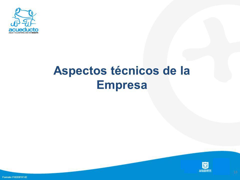 Formato: FI0203F07-02 18 Aspectos técnicos de la Empresa