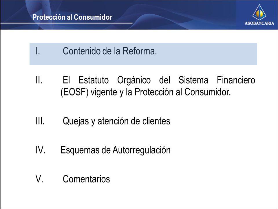 I. Contenido de la Reforma. II.
