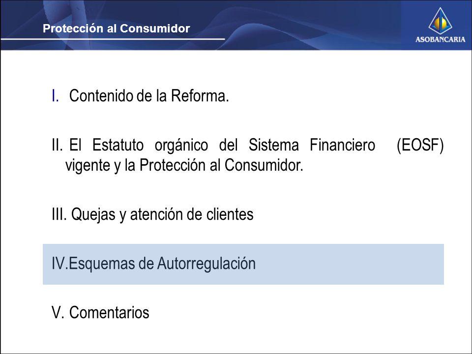 Protección al Consumidor I. Contenido de la Reforma.