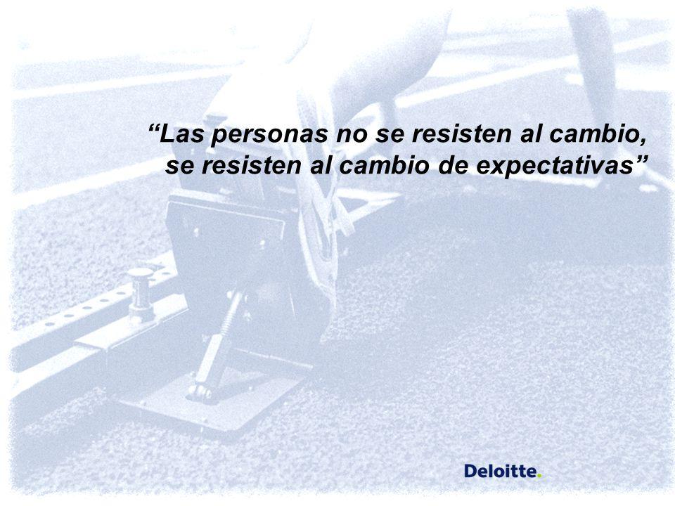 Las personas no se resisten al cambio, se resisten al cambio de expectativas