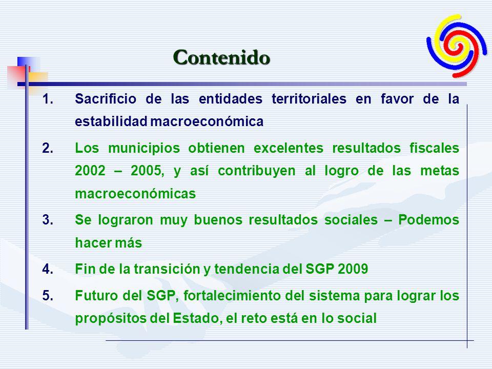 Para el período 2002-2008 se dejarán de transferir 12,6 billones de pesos de 2005.Para el período 2002-2008 se dejarán de transferir 12,6 billones de pesos de 2005.