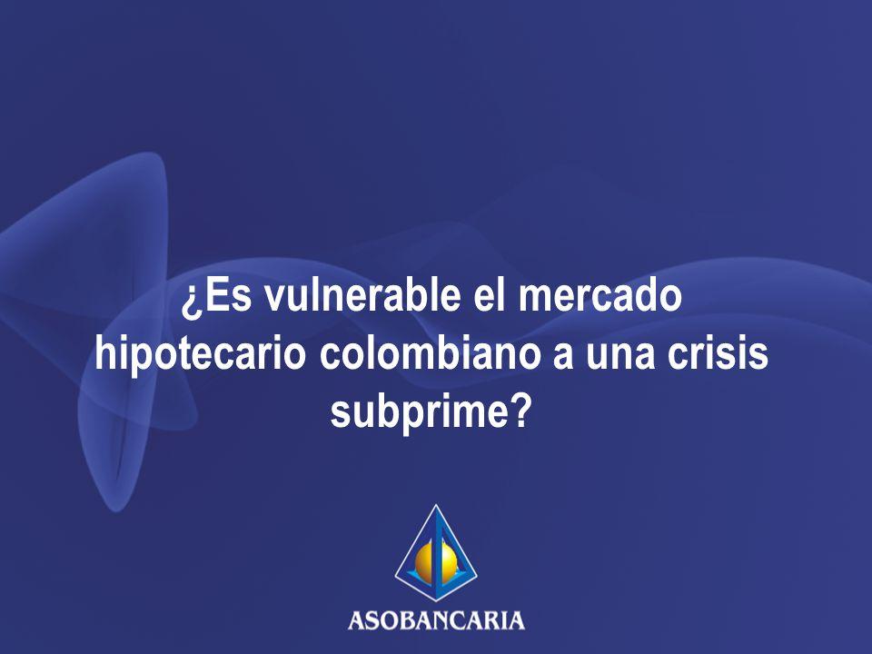 ¿Es vulnerable el mercado hipotecario colombiano a una crisis subprime?