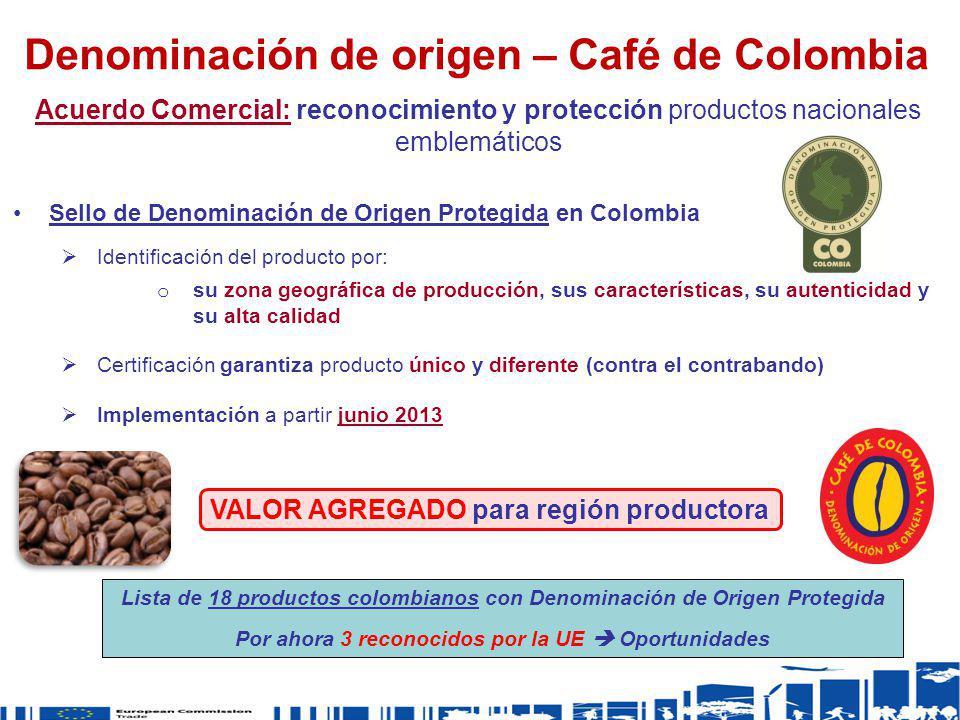 Sello de Denominación de Origen Protegida en Colombia Identificación del producto por: o su zona geográfica de producción, sus características, su aut