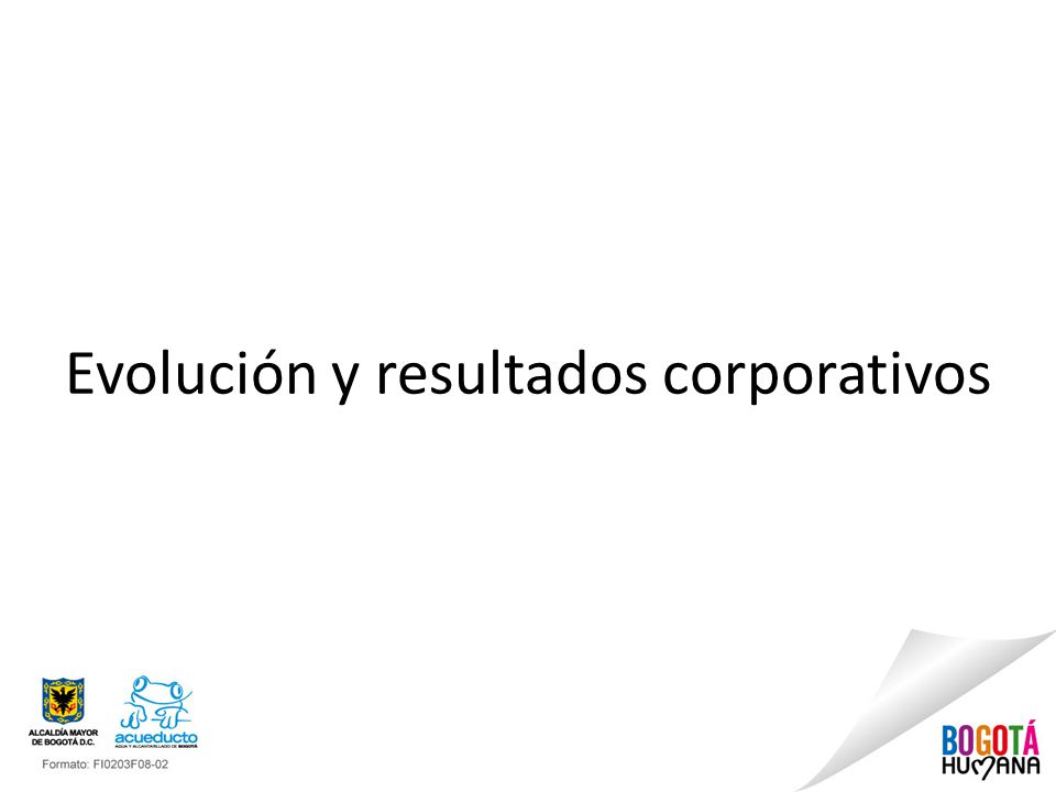 Evolución y resultados corporativos