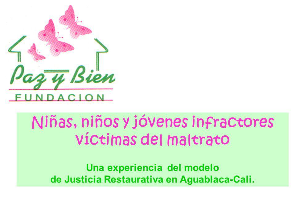 Niñas, niños y jóvenes infractores víctimas del maltrato Una experiencia del modelo de Justicia Restaurativa en Aguablaca-Cali.