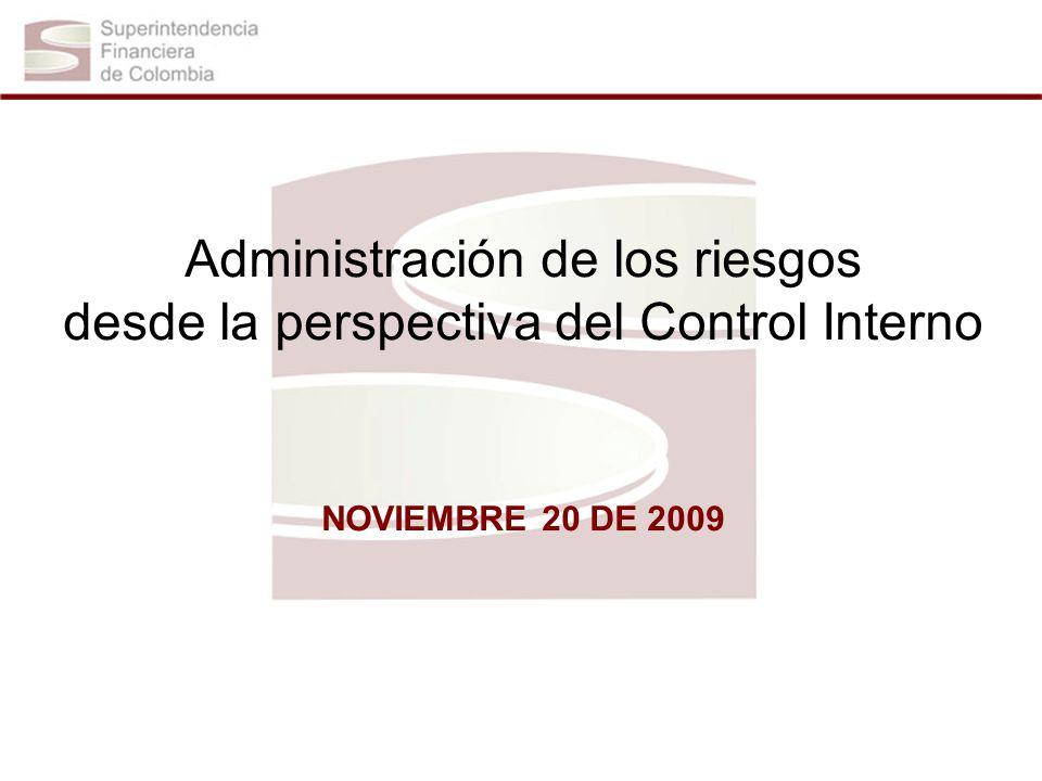 Administración de los riesgos desde la perspectiva del Control Interno NOVIEMBRE 20 DE 2009