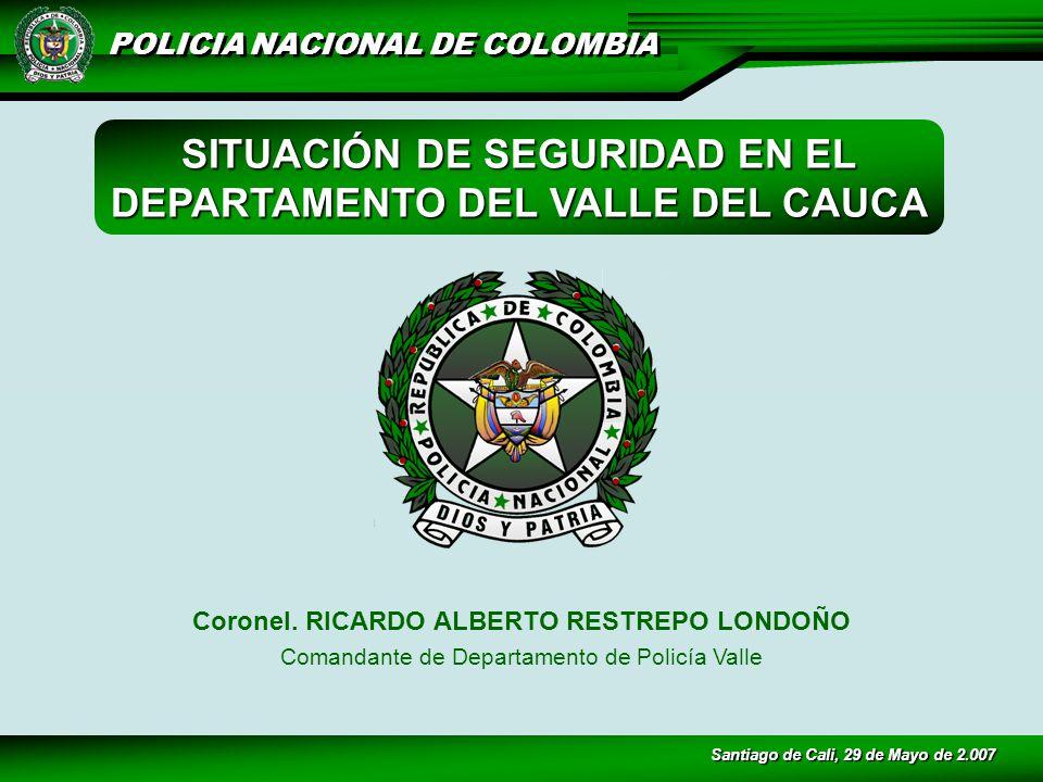 POLICIA NACIONAL DE COLOMBIA Coronel.
