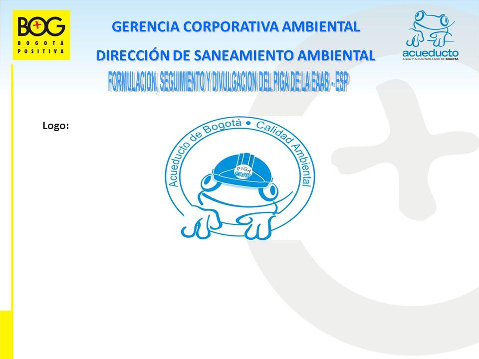 GERENCIA CORPORATIVA AMBIENTAL DIRECCIÓN DE SANEAMIENTO AMBIENTAL Logo: