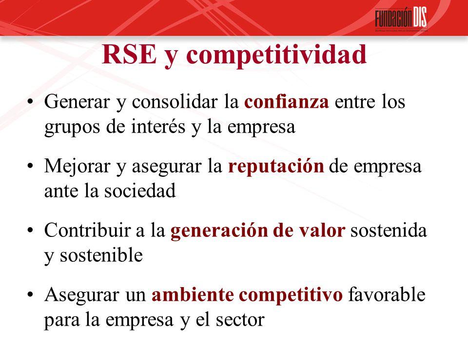 Generar y consolidar la confianza entre los grupos de interés y la empresa Mejorar y asegurar la reputación de empresa ante la sociedad Contribuir a l