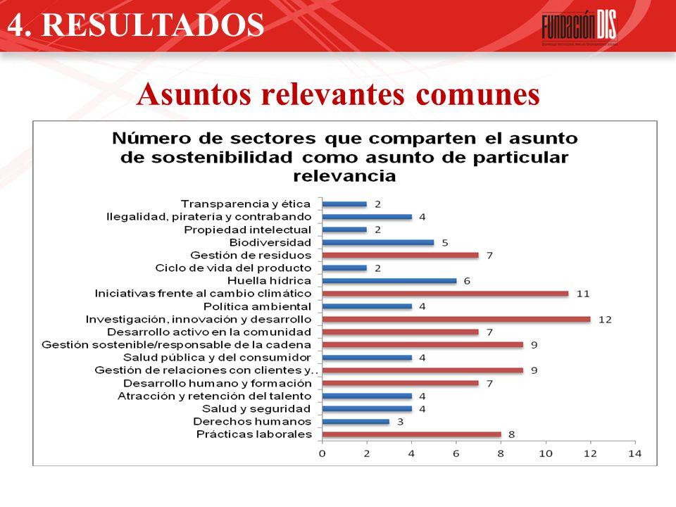 4. RESULTADOS Asuntos relevantes comunes