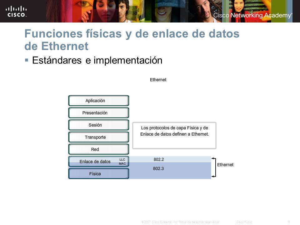 27© 2007 Cisco Systems, Inc. Todos los derechos reservados.Cisco Public