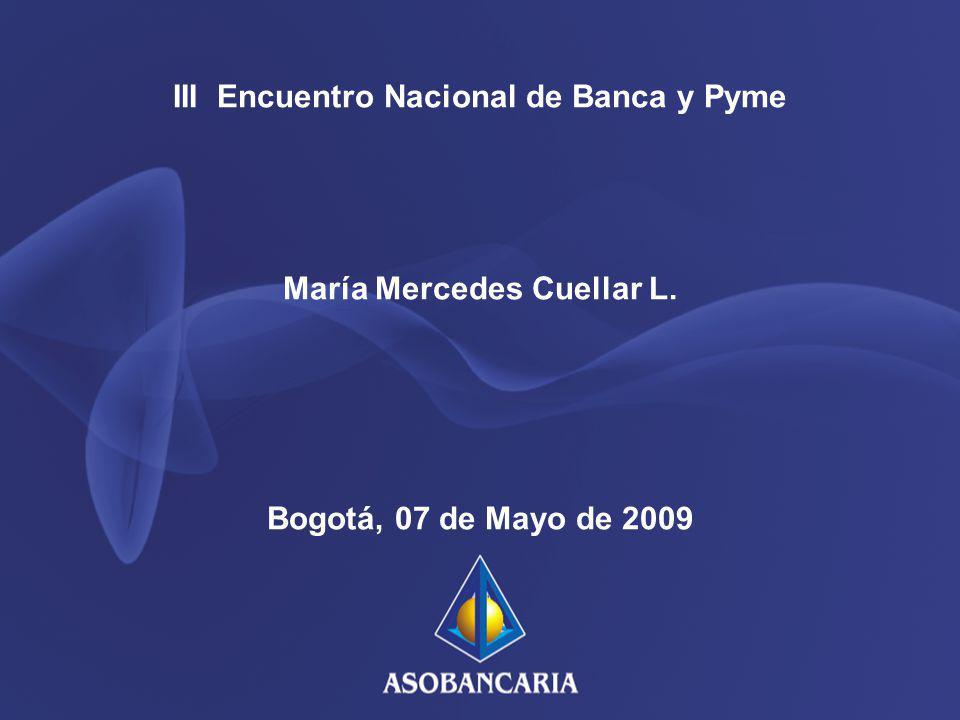 III Encuentro Nacional de Banca y Pyme María Mercedes Cuellar L. Bogotá, 07 de Mayo de 2009