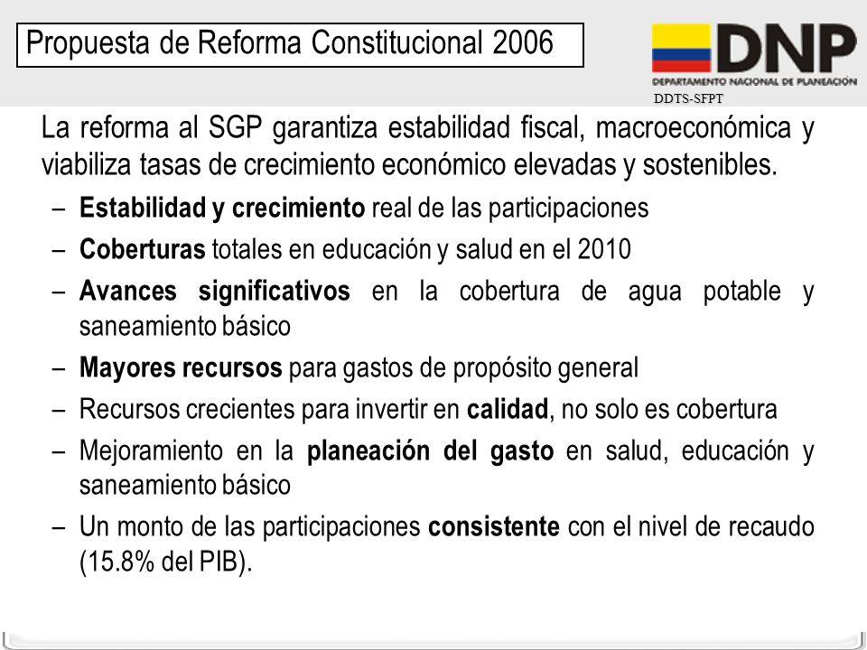 DDTS-SFPT La reforma al SGP garantiza estabilidad fiscal, macroeconómica y viabiliza tasas de crecimiento económico elevadas y sostenibles. – Estabili