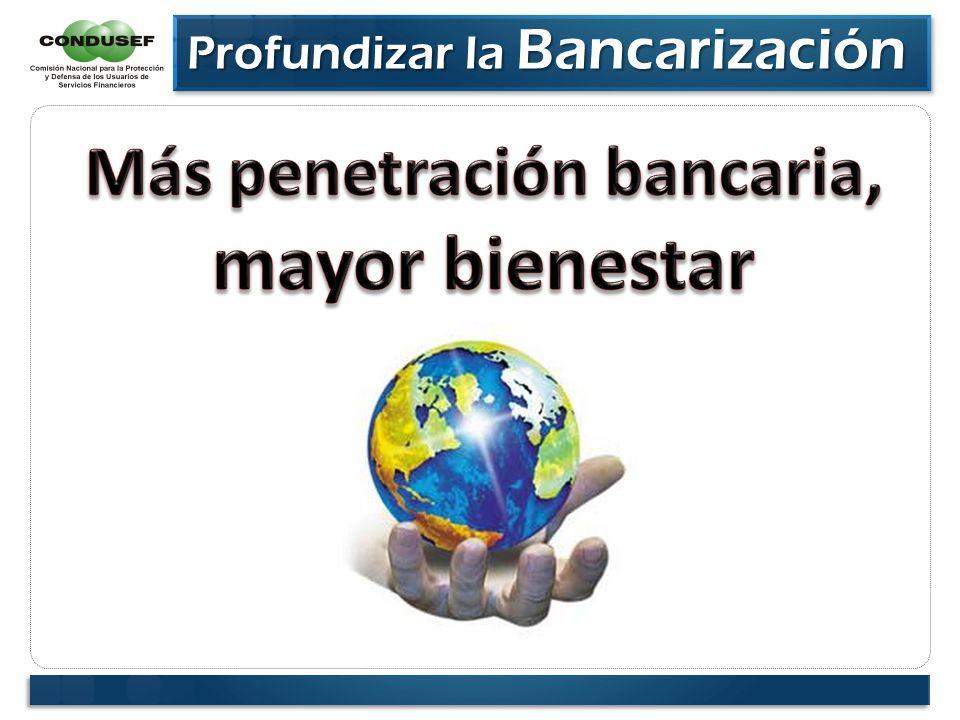 Profundizar la Bancarización Profundizar la Bancarización