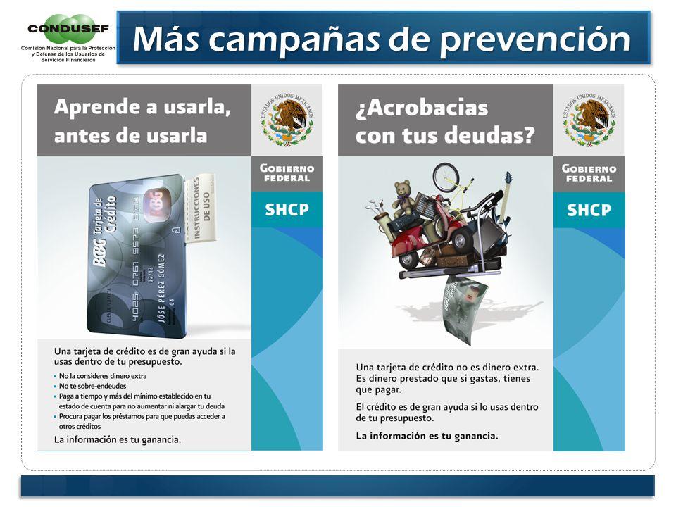 Más campañas de prevención Más campañas de prevención