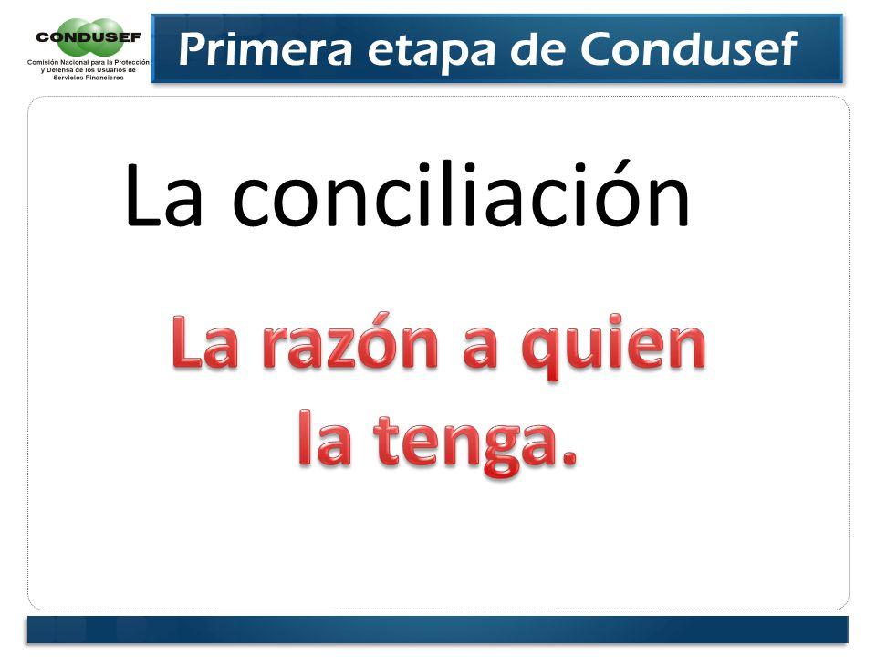 Primera etapa de Condusef La conciliación