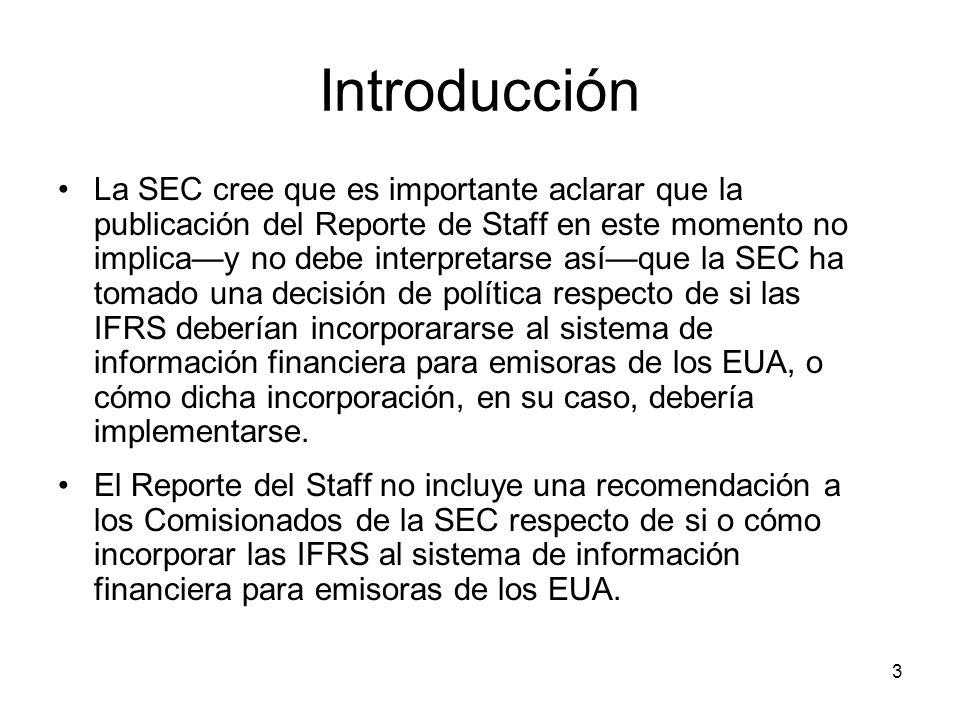 3 Introducción La SEC cree que es importante aclarar que la publicación del Reporte de Staff en este momento no implicay no debe interpretarse asíque