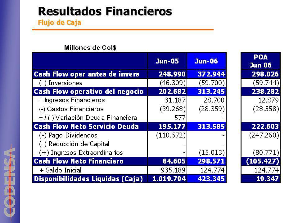Resultados Financieros Flujo de Caja
