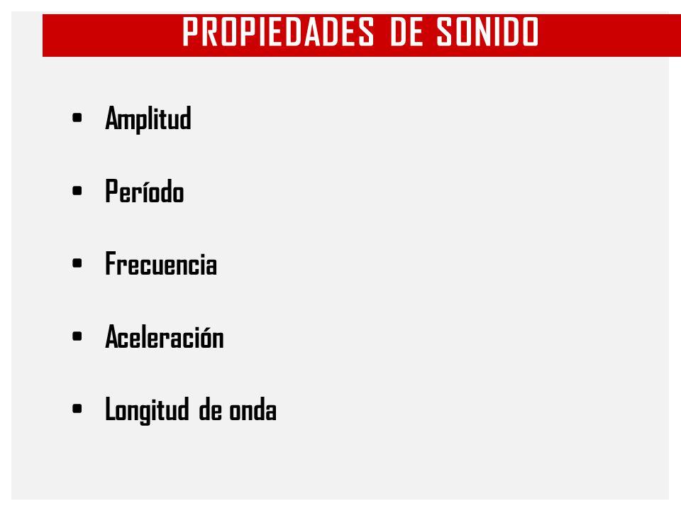 PROPIEDADES DE SONIDO Amplitud