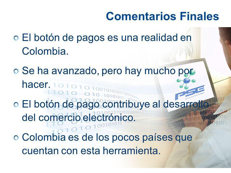 El botón de pagos es una realidad en Colombia. Se ha avanzado, pero hay mucho por hacer. El botón de pago contribuye al desarrollo del comercio electr