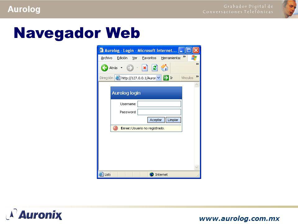 www.aurolog.com.mx Aurolog Navegador Web