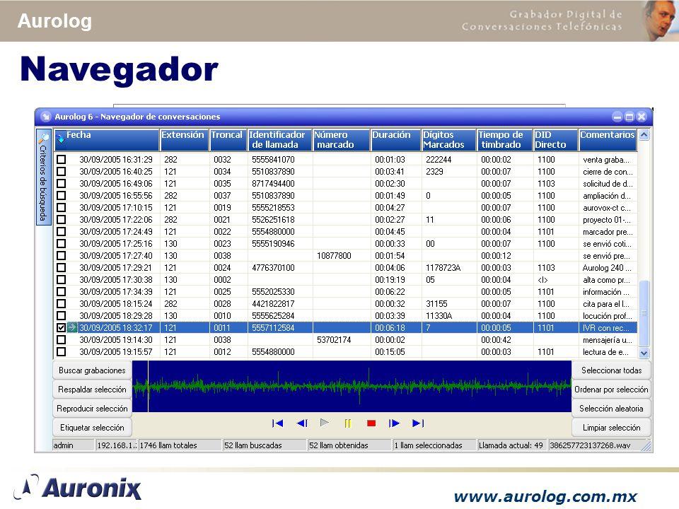 www.aurolog.com.mx Aurolog Navegador