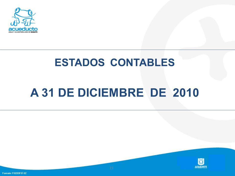 Formato: FI0203F07-02 ESTADOS CONTABLES A 31 DE DICIEMBRE DE 2010 15