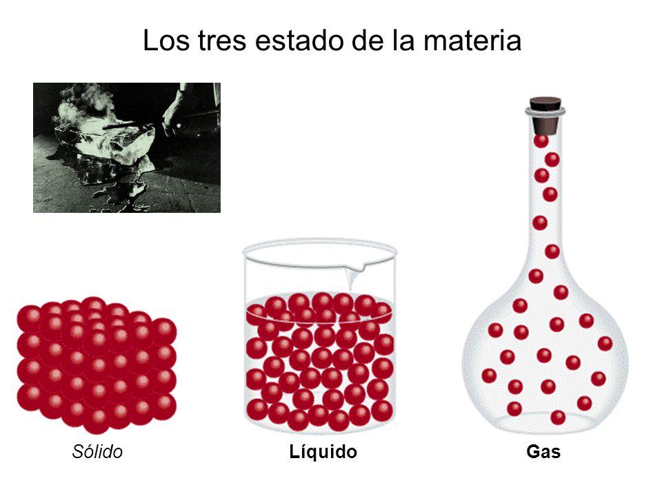 Los tres estado de la materia SólidoLíquidoGas