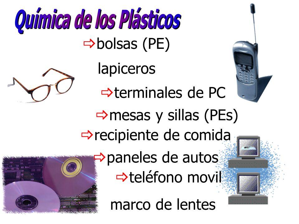 bolsas (PE) terminales de PC lapiceros mesas y sillas (PEs) recipiente de comida paneles de autos teléfono movil marco de lentes