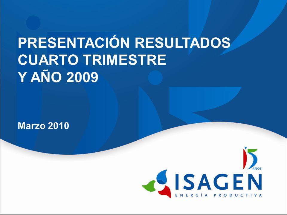 PRESENTACIÓN RESULTADOS CUARTO TRIMESTRE Y AÑO 2009 Marzo 2010