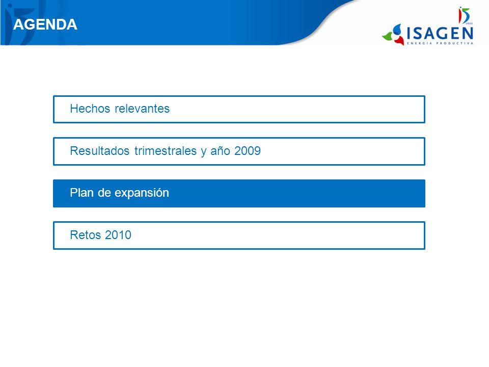 AGENDA Retos 2010 Hechos relevantes Resultados trimestrales y año 2009 Plan de expansión