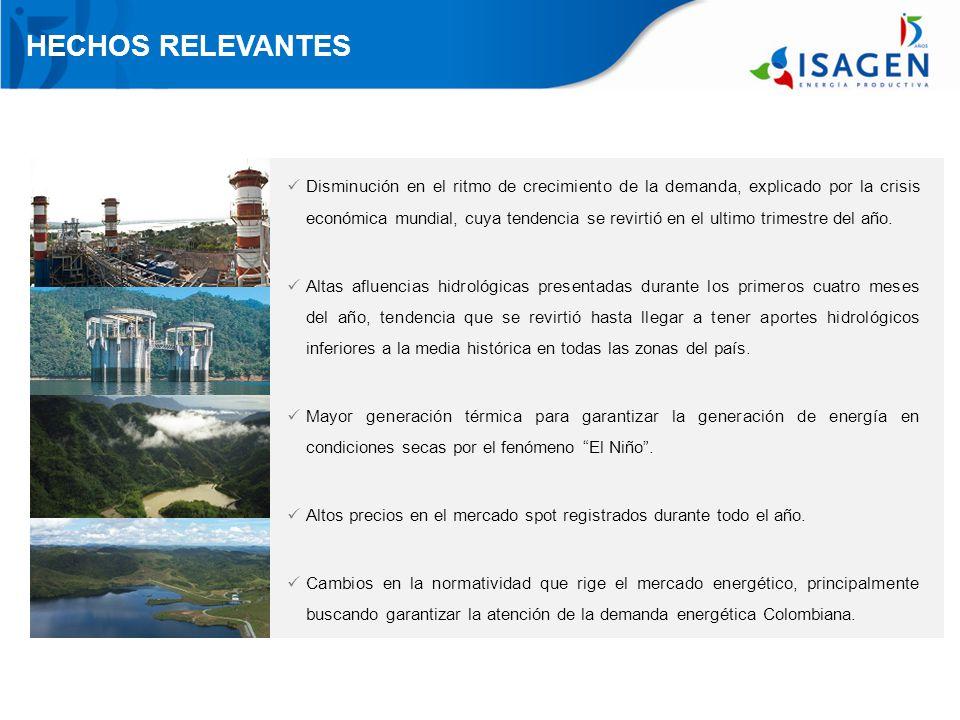 HECHOS RELEVANTES Mayores ventas de energía a Venezuela, registrando las más altas en la historia de la compañía.