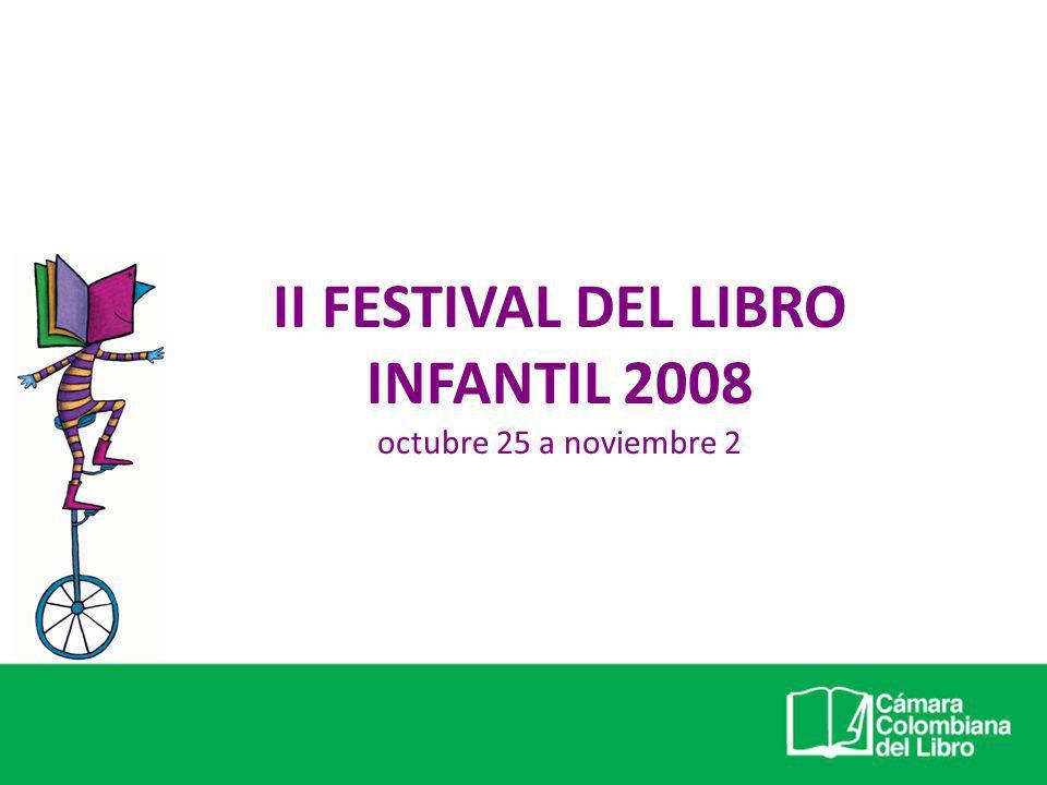 II Festival del Libro Infantil PRESUPUESTO Fuentes de recursos: Proyecto apoyo concertado Recursos propios entidades Patrocinadores Aportes