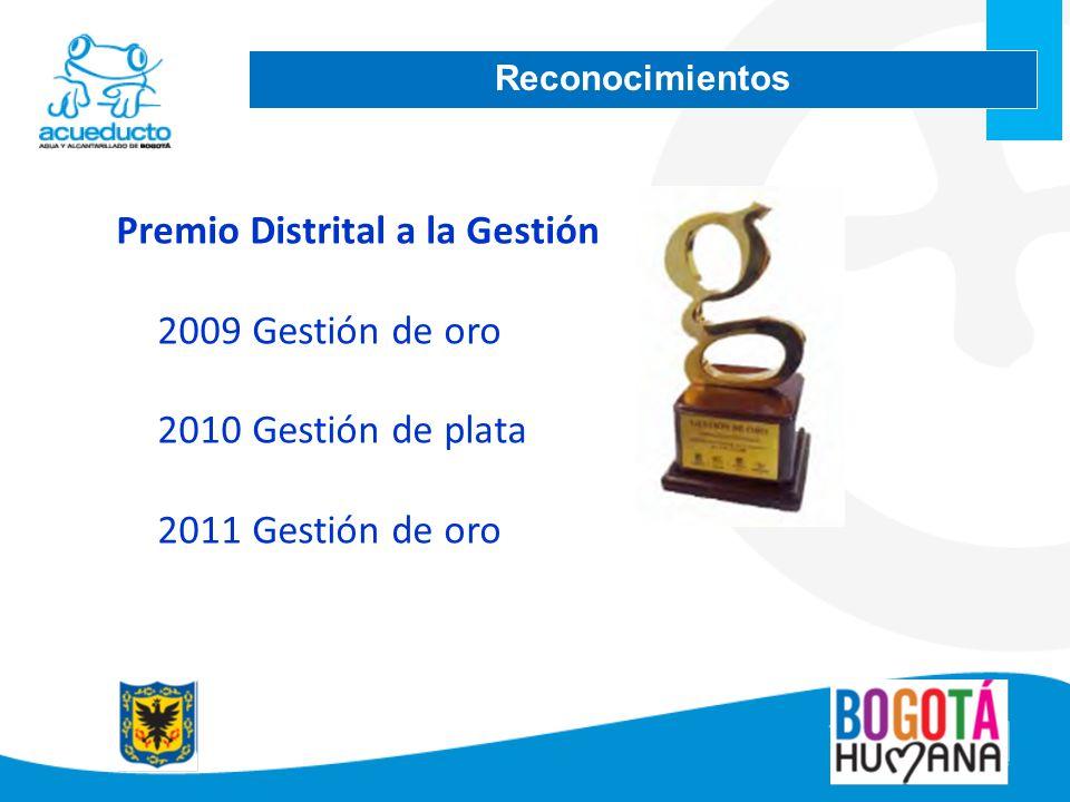 Premio Distrital a la Gestión 2009 Gestión de oro 2010Gestión de plata 2011Gestión de oro Reconocimientos