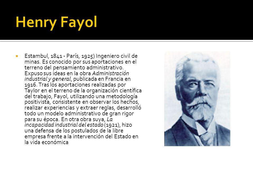 Estambul, 1841 - París, 1925) Ingeniero civil de minas. Es conocido por sus aportaciones en el terreno del pensamiento administrativo. Expuso sus idea
