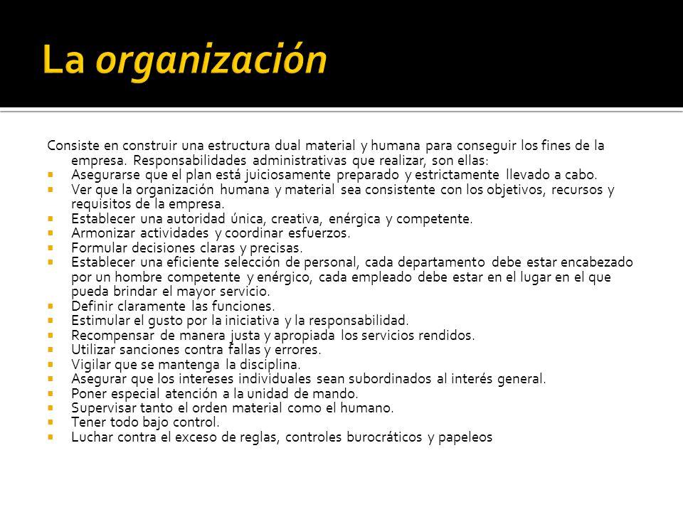 consiste en el mantenimiento de la actividad entre el personal de la organización.