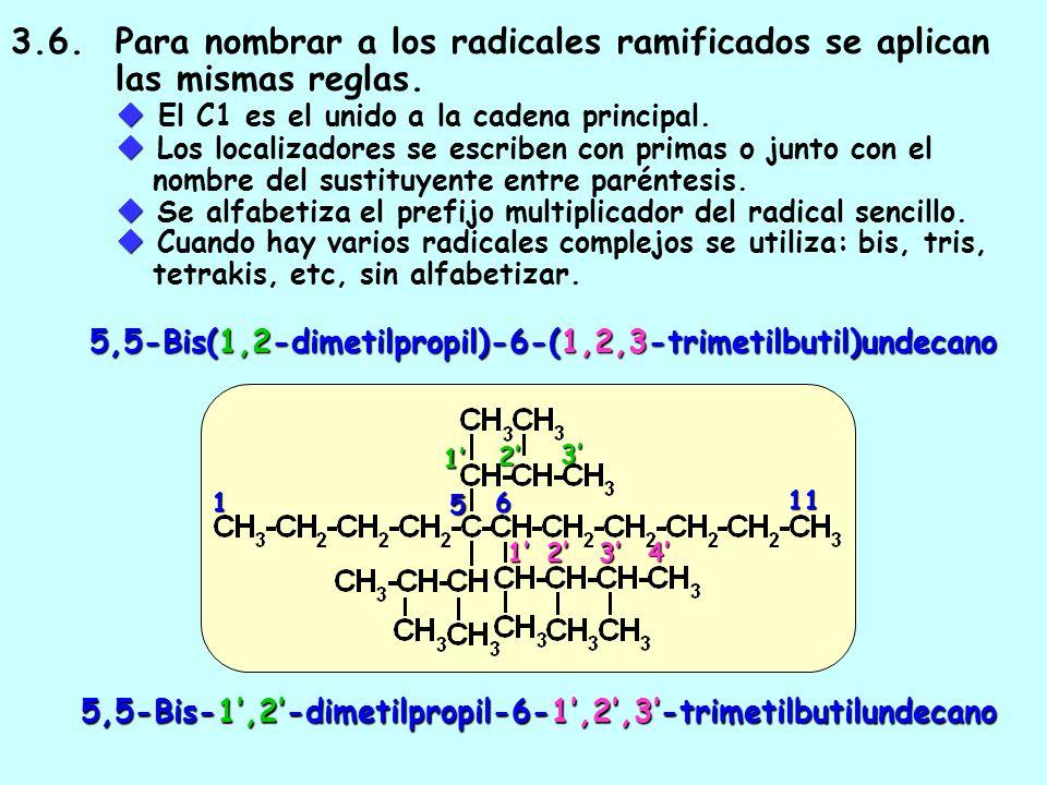 3.3. Los prefijos multiplicativos (di-, tri-, tetra, etc) no se alfabetizan 3.4. Los prefijos n-, sec-, terc- no se alfabetizan 3.5. Los prefijos iso,